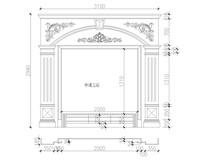 大理石玉石室内精装电视背景CAD设计图