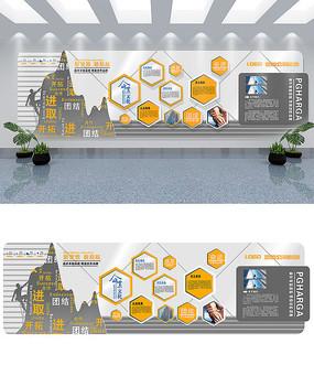 高端公司企业文化墙设计