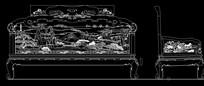 江南春色沙发CAD生产图
