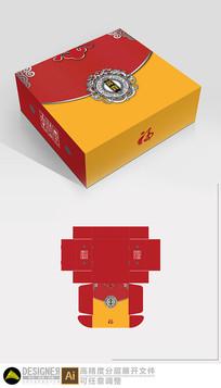 节日礼盒包装设计展开图