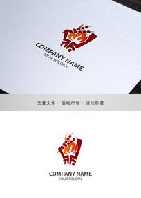 烤串烧烤类标志设计