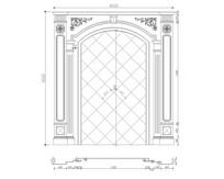欧式电视背景CAD设计图石材内装