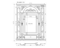 室内精装大理石玉石电视背景CAD设计图