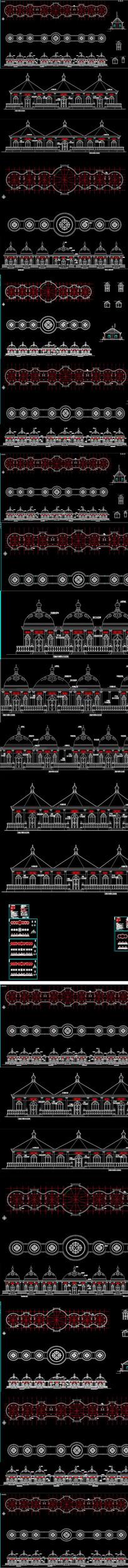 砖混结构蒙古包饭店建筑施工