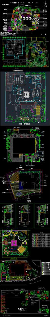 别墅景观方案设计cad图纸