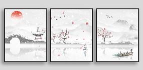 断桥雪景室内装饰画设计