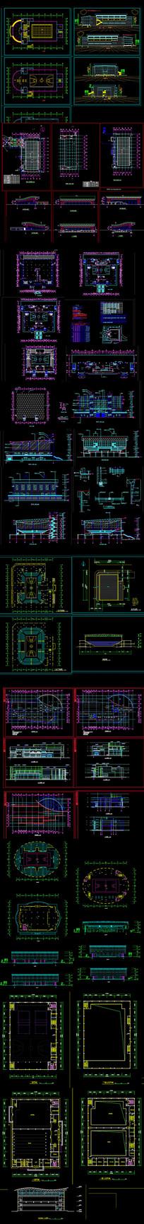 二层体艺馆建筑设计图