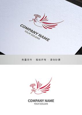 飞鸽康乃馨标志设计
