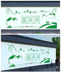建设美丽乡村文化墙模板