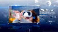 蓝色科技图文AE模板