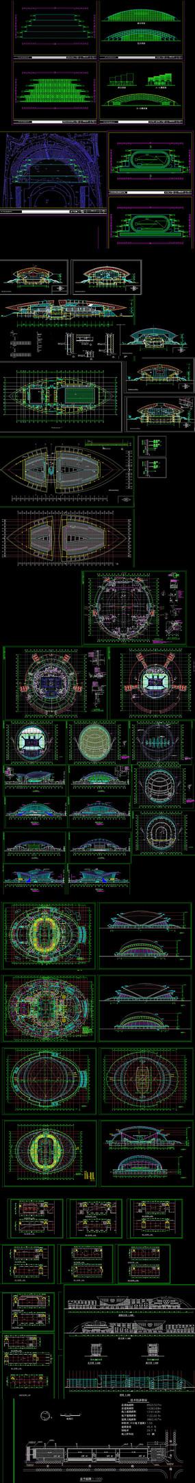 三层体育馆建筑设计图