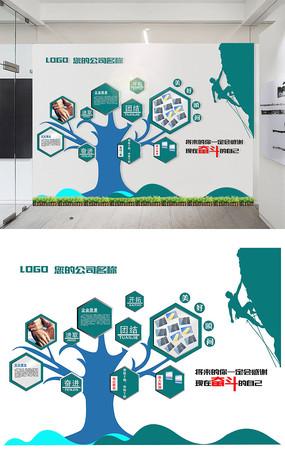 唯美公司办公室文化墙设计