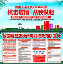 校园预防新型冠状病毒宣传展板