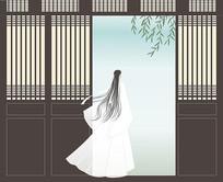 中式古风男子人物插画