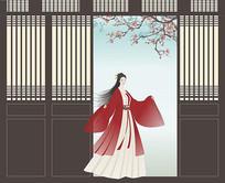 中式古装人物插画
