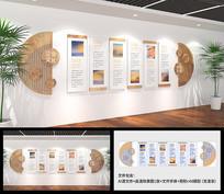 复古企业木风文化墙设计