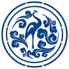 鹤形logo
