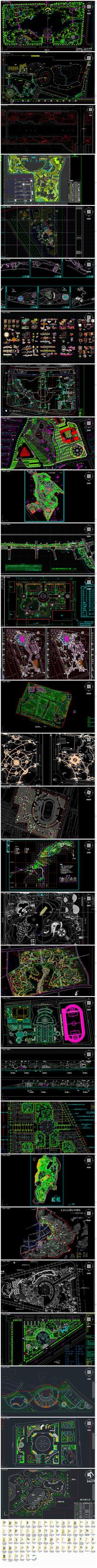 公园广场滨水景区景观CAD全套施工图2