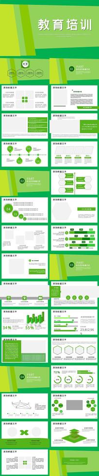 绿色时尚教育培训PPT模版