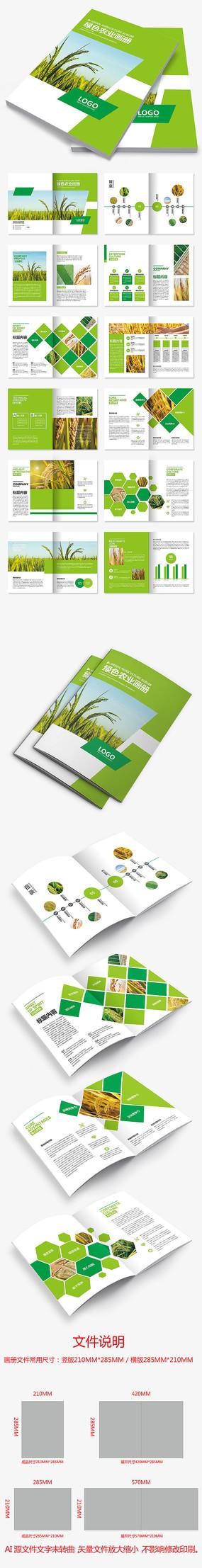 绿色水稻农产品生态农业环保科技宣传册