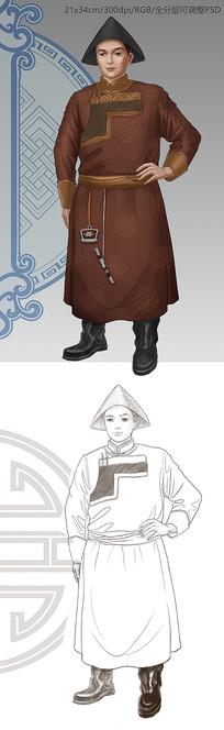 蒙古族男性人物设计