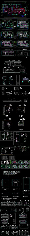 某综合展厅室内装修图CAD图纸