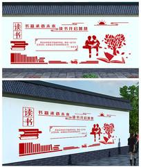 读书校园文化墙模板