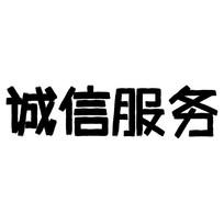 企业文化诚信服务艺术字