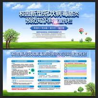 校园疫情预防宣传栏展板