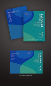 蓝色科技线条画册封面设计