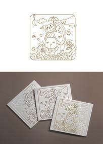 原创手绘插图插画动物组合猫插画设计