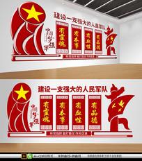 中国风大气军营公安文化墙