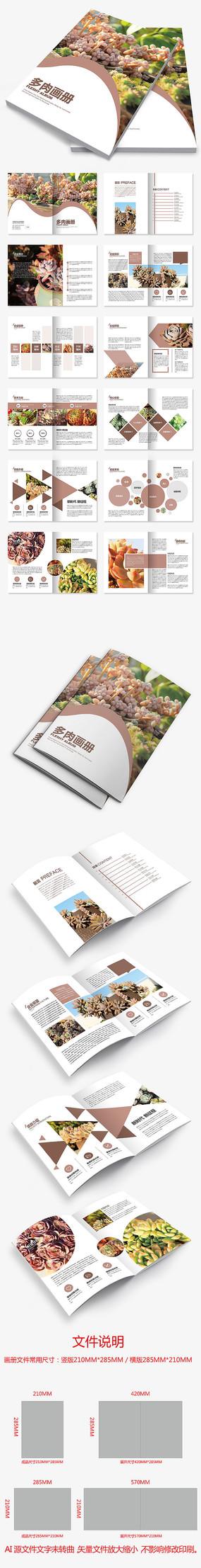 多肉植物绿色植物画册盆景绿植家居产品画册