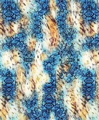 时尚潮流花纹和虎纹组合图案