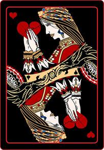 时尚炫酷扑克牌设计图案