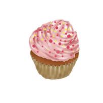 手绘甜点蛋糕美食插画