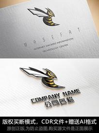 创意蜜蜂logo标志公司商标设计
