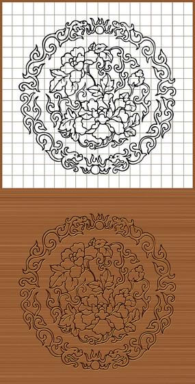 花纹矢量雕刻图案