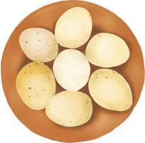 手绘鸡蛋美食小吃插画