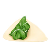 手绘粽子美食节日插画