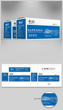 蓝色科技背景打印机碳粉盒包装