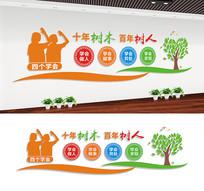 校园四个学会文化墙宣传标语