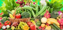 高端大气绿色水果蔬菜海报