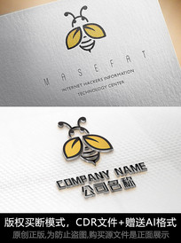 蜜蜂logo商标设计