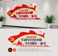 双拥宣传文化墙设计