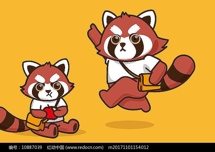 原创小熊猫卡通形象图片