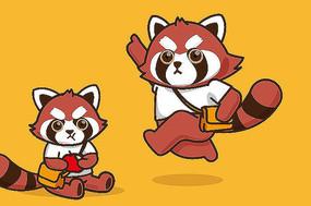 原创小熊猫卡通形象