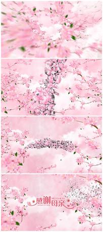 4K唯美花瓣揭示母亲节片头视频模板