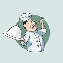 厨师卡通插画