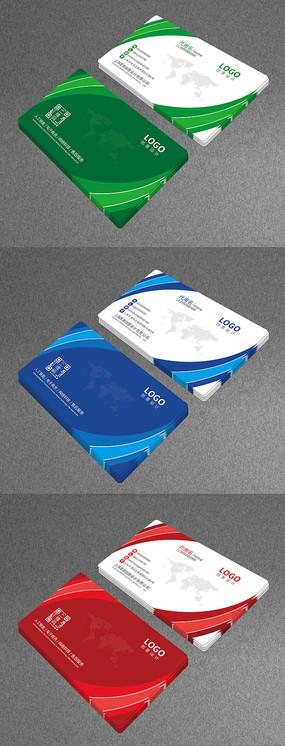 大气个人名片设计模板企业公司卡片